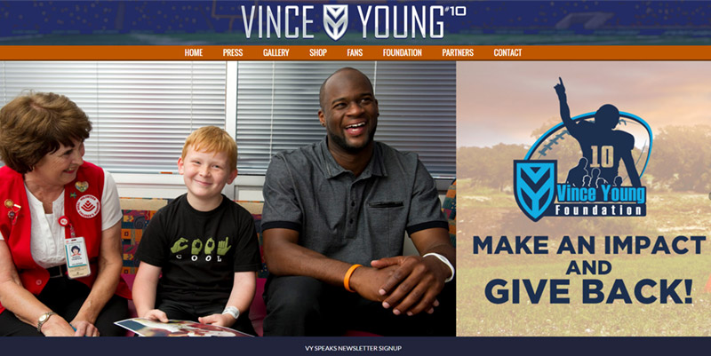 Vince Young Official Website